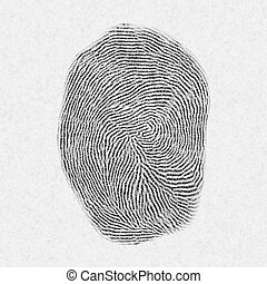 fingerprint pattern isolated on white.