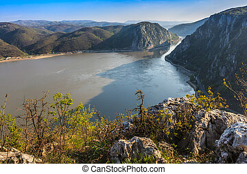 The Danube Gorges, Romania - landscape in the Danube Gorges...