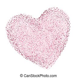 heart shape with decorative texture. vector