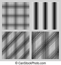 Set of 4 seamless pattern for backgrounds, fabrics and finishing of paper.