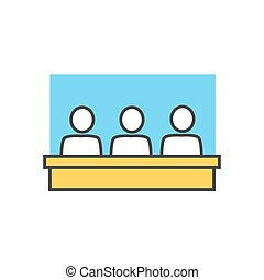 Students in Classroom Icon - Students in classroom icon...