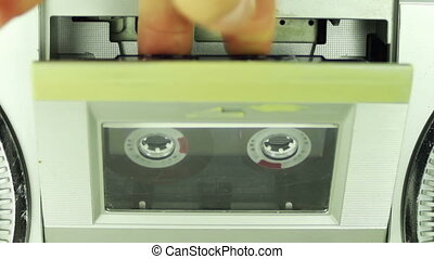 Insert Audio Cassette into the Tape Player
