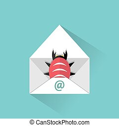 Infected email icon