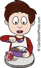boy breakfast cartoon
