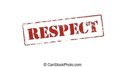 Respect - Rubber stamp with word respect inside, vector...