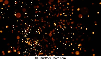 Rising Embers, High Flames 24fps - Fire on high heat, hot...