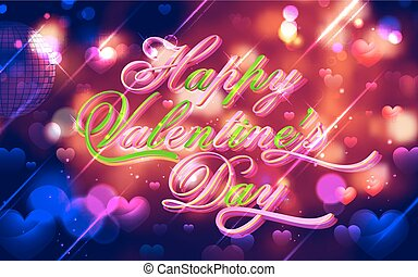 Valentine Day Background - illustration of abstract...