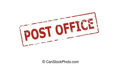 Post office - Rubber stamp with text post office inside,...