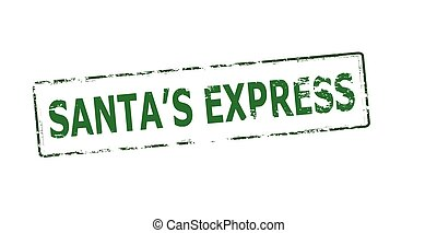 Santa express - Rubber stamp with text Santa express inside,...