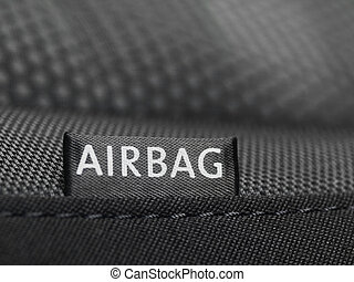 Airbag label - Detail of an airbag lable on the side of a...