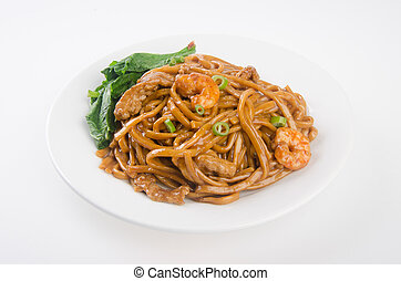 stir-fried noodles with chicken - noodles. stir-fried...