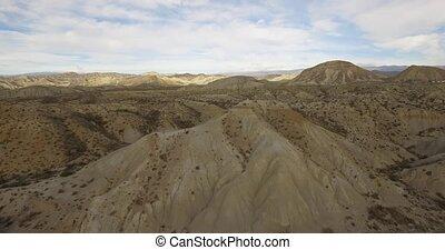 4k Aerial View in the desert - Sierra Alhamila / Desierto De...