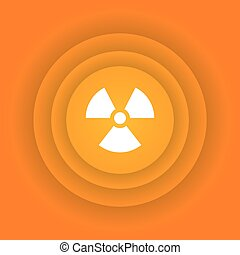 Nuclear energy icon - Ecology icon, nuclear energy sign on...