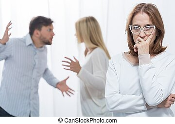 Marital quarrel and psychologist - Picture of marital...