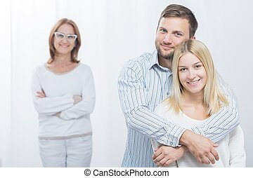 Happy wife with husband - Picture of happy wife with husband...