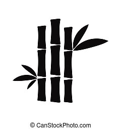 Bamboo stem black simple icon