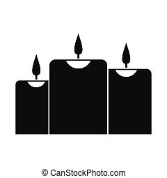 Burning candles icon