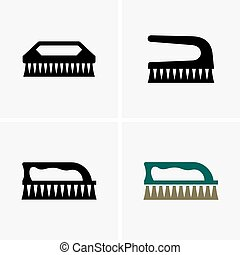 Clothes cleaning brushes (shade pictures)