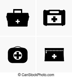 First aid kits shade pictures