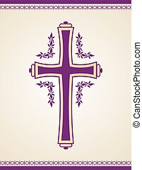 Traditional Christian Cross - Christian Cross design with...