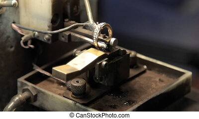 Electrical methods of marking of gold jewelry Production and...