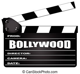 Bollywood Clapperboard - A typical movie clapperboard with...