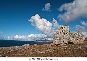 famous protected burren park landscape west of ireland -...