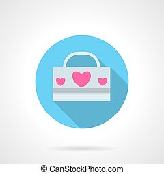 Love pack abstract round vector icon - Three pink hearts on...