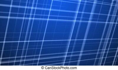 Fractal Lines on Blue Background.