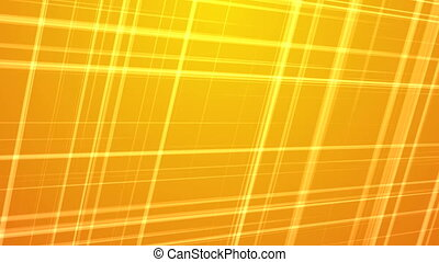 Fractal Lines on Yellow Background - Intersecting Colored...