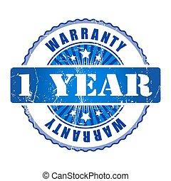 1 Year warranty stamp.