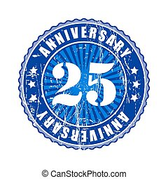 25 Years anniversary stamp - 25 Years anniversary stamp...