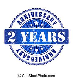 2 Years anniversary stamp.