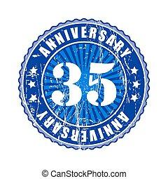 35  Years anniversary stamp.