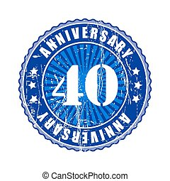 40 Years anniversary stamp - 40 Years anniversary stamp...