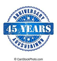 45 Years anniversary stamp.