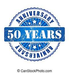 50 Years anniversary stamp.