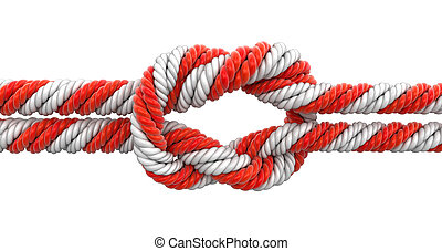 Tied knot Image with clipping path