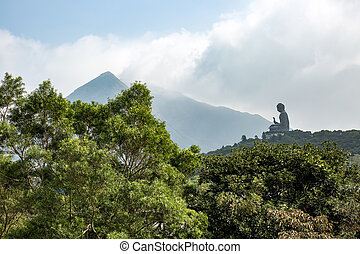 Tian Tan Buddha - The bronze Buddha in Lantau Island, Hong...