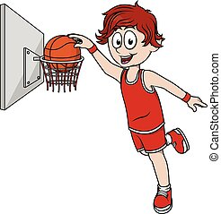 Boy playing basket ball