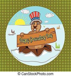 groundhog - hog, ground, 2, seeing, beaver, fun, mammal,...