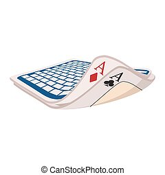 Playing cards cartoon icon