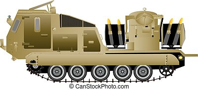 Missile Launching Vehicle - A Tracked Armoured Missile...