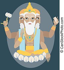 vector lord Brahma - vector illustration lord Brahma...