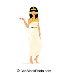 Egypt Queen Cleopatra. Woman portrait, attractive sexy...