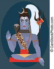 vector lord Shiva - vector illustration lord Shiva...