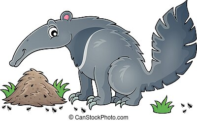 Anteater theme image 1 - eps10 vector illustration