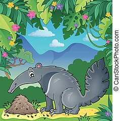 Anteater theme image 2 - eps10 vector illustration