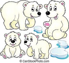 Polar bears theme collection 1