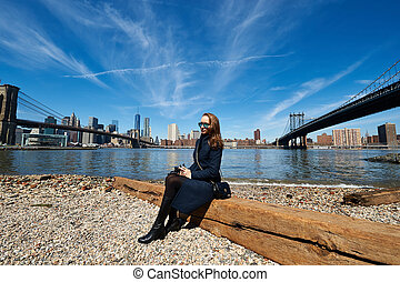 Woman in Brooklyn